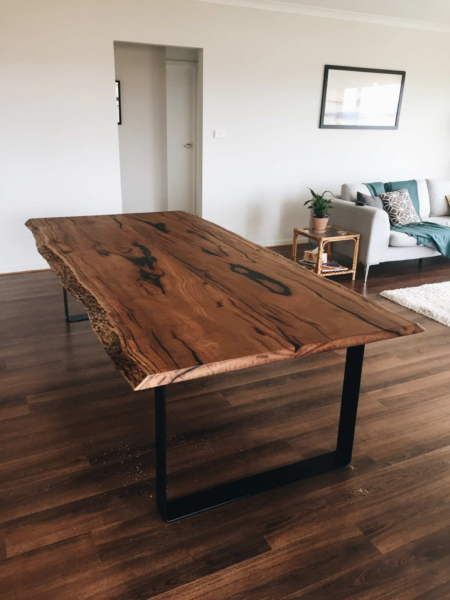 Timber slab table Sydney